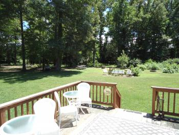 Relax on the deck or in the hammock with a glass of wine or fresh lemonade
